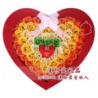 浪漫100朵玫瑰花的香皂